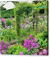 Garden Of Claude Monets House, Giverny Acrylic Print
