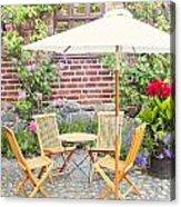 Garden Seating Area Acrylic Print