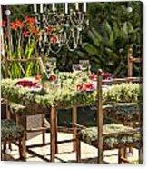 Garden Table Setting Acrylic Print
