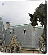 Gargoyles On Roof Of Biltmore Estate Acrylic Print