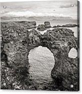 Gatklettur Arch In Hellnar Acrylic Print