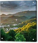 Gatlinburg Tennessee Great Smoky Mountain Sunrise Acrylic Print
