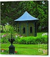 Gazebo In The Garden Acrylic Print