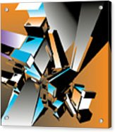Geometric Colorful Design Abstract Acrylic Print