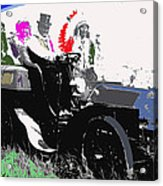 Geronimo At The Wheel 1904 Locomobile Model C Touring Car On The 101 Ranch In Oklahoma 1905 Acrylic Print