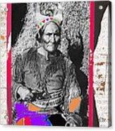 Geronimo With Pistol Ft. Sill Oklahoma Collage Circa 1910-2012 Acrylic Print