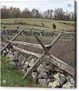 Gettysburg Fence Row 3 Acrylic Print