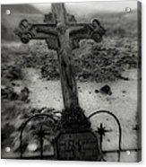 Ghost Town Cross Acrylic Print
