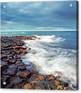 Giants Causeway On A Cloudy Day Acrylic Print