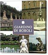 Giardino Di Boboli Acrylic Print