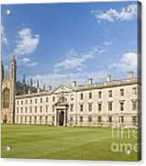 Gibbs Building And Kings College Chapel In Cambridge Acrylic Print