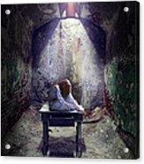 Girl In Abandoned Room Acrylic Print