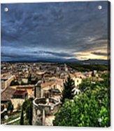 Girona Cityscape Acrylic Print