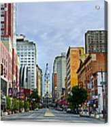 Give My Regards To Broad Street Acrylic Print by Bill Cannon