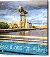 Glasgow Belongs To Us Acrylic Print