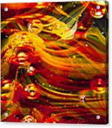 Glass Macro Abstract - Molten Fire Acrylic Print