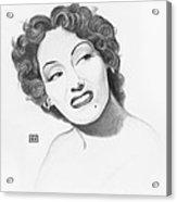 Gloria Swanson Acrylic Print