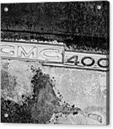Gmc 4000 V6 Pickup Truck Side Emblem Acrylic Print