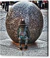 Gnome Statue Wroclaw Poland Acrylic Print