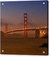 Golden Gate Bridge At Sunset Acrylic Print