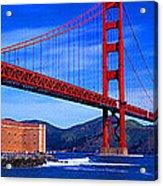 Golden Gate Bridge Panoramic View Acrylic Print