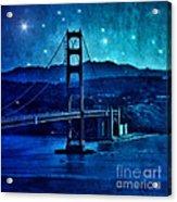Golden Gate Bridge Night Acrylic Print