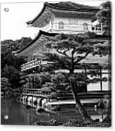 Golden Pagoda In Kyoto Japan Acrylic Print