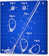 Golf Club Patent 1909 - Blue Acrylic Print