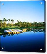 Golf Course At The Lakeside, Regatta Acrylic Print