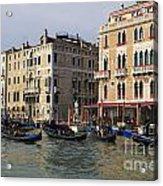 Gondolas In The Grand Canal Acrylic Print