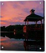 Gorton Pond Sunset Warwick Rhode Island Acrylic Print