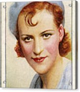 Gracie Fields  English Singer Acrylic Print