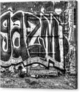 Graffiti Door Acrylic Print