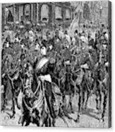 Grant Funeral, 1885 Acrylic Print