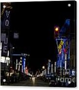 Granville Street At Night Vancouver Acrylic Print