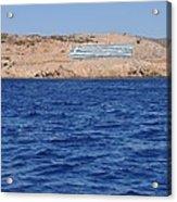 Greece Flag Acrylic Print