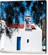 Greek Chapel Acrylic Print