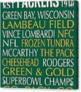 Green Bay Packers Acrylic Print