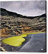 Green Lagoon On Lanzarote Acrylic Print