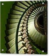 Green Spiral Staircase Acrylic Print