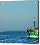 Green Trawler Acrylic Print