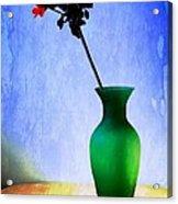Green Vase Acrylic Print by Donald Davis
