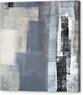 Blocked - Grey And Beige Abstract Art Painting Acrylic Print