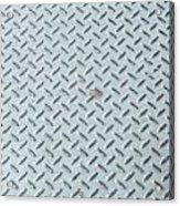Grey Iron Industrial Floor As Background Acrylic Print