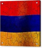 Grunge Armenia Flag  Acrylic Print