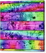 Grunge Colorful Wood Planks Background Acrylic Print
