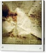 Grunge Newspaper Acrylic Print