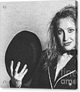 Grunge Photo Of Female Cabaret Performer Acrylic Print