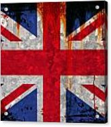 Grunge Union Flag Acrylic Print