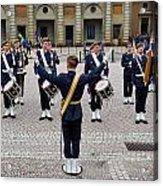 Guards Changing Shifts. Kungliga Slottet.gamla Stan. Stockholm 2 Acrylic Print